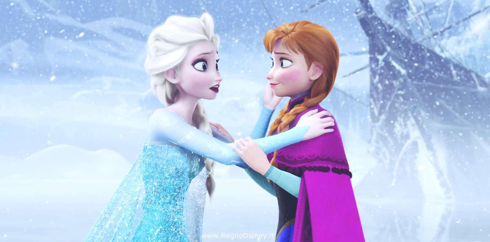 κατεψυγμένο και βασίλειο πάγου - κρατώντας τα χέρια Άννα Έλσα (3×3)