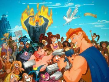 Hercules - plakat hercules z wszystkimi postaciami