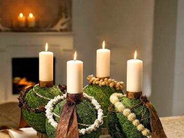 Candlesticks for Christmas - Hand-made candlesticks for Christmas. Christmas decoration.
