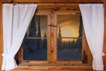Window view. - Winter view from the window.