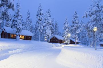 Lapland in Finland. - So called Lapland. Beautiful winter.