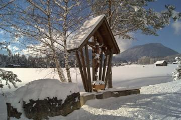 A snowy chapel. - I wonder what intentions her put her here?