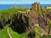 Schotland Castle. - Dunnottar Castle in Schotland.