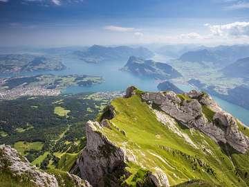 Szwajcaria z góry. - Krajobraz. Szwajcaria z góry.