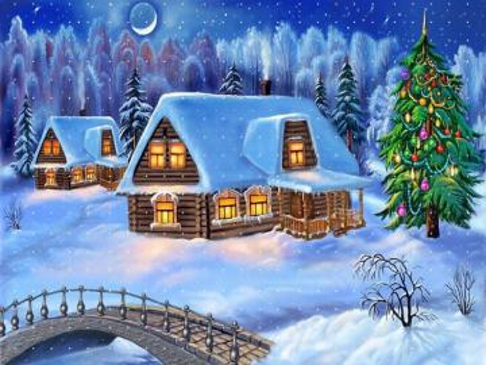 Vánoční krajina. - Vánoční krajina.