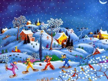 Inverno gioioso. - Per i bambini Inverno gioioso.