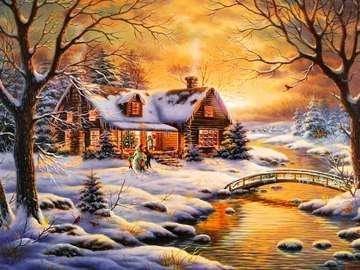 Tramonto invernale - Tramonto invernale sul fiume.