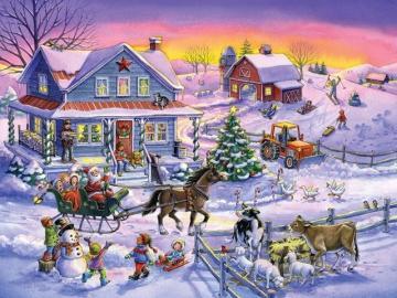 Feriados russos no campo. - Natal russo.