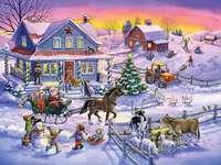 Russische vakantie op het platteland. - Russische kerst.