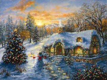 Malarstwo - Kolorowe Boże Narodzenie