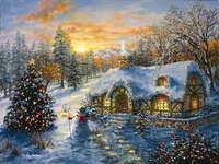 painting - Colorful Christmas