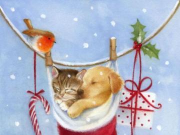 strumpa - Julpussel för barn