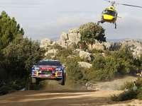 Rallye automobile - puzzle coloré
