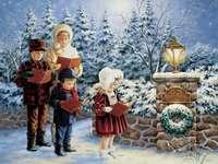 Τραγουδώντας Χριστουγεννιάτικα κάλαντα. - Τραγουδώντας Χριστουγεννιάτικα κάλαντα.