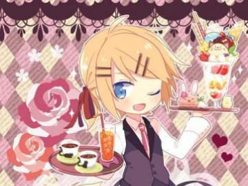 Kagamine Cafe - Len Kagamine in a maid dress. This is my type of sh*t! Unfortunately I not lewd.