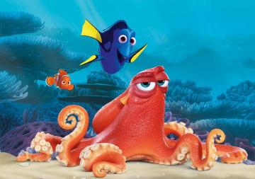 looking for dory - dory together with frank and nemo