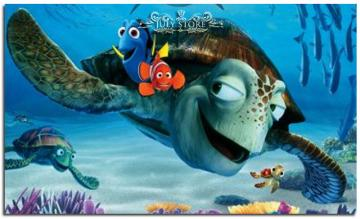finding Nemo - dory, rind, marlin and wriggle