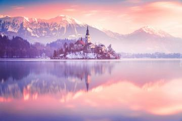 """By the lake Bled - The photo comes from the \ """"Tapeciarnia \"""""""