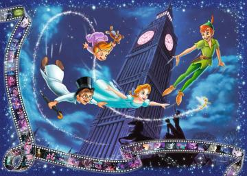 peter pan disney - Peter Pan with Wendy and her brothers wallpaper background with cardboard scenes