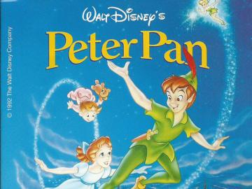 peter pan disney - peter pan the cover of the cassette