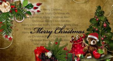 Merry Christmas - colorful jigsaw puzzle