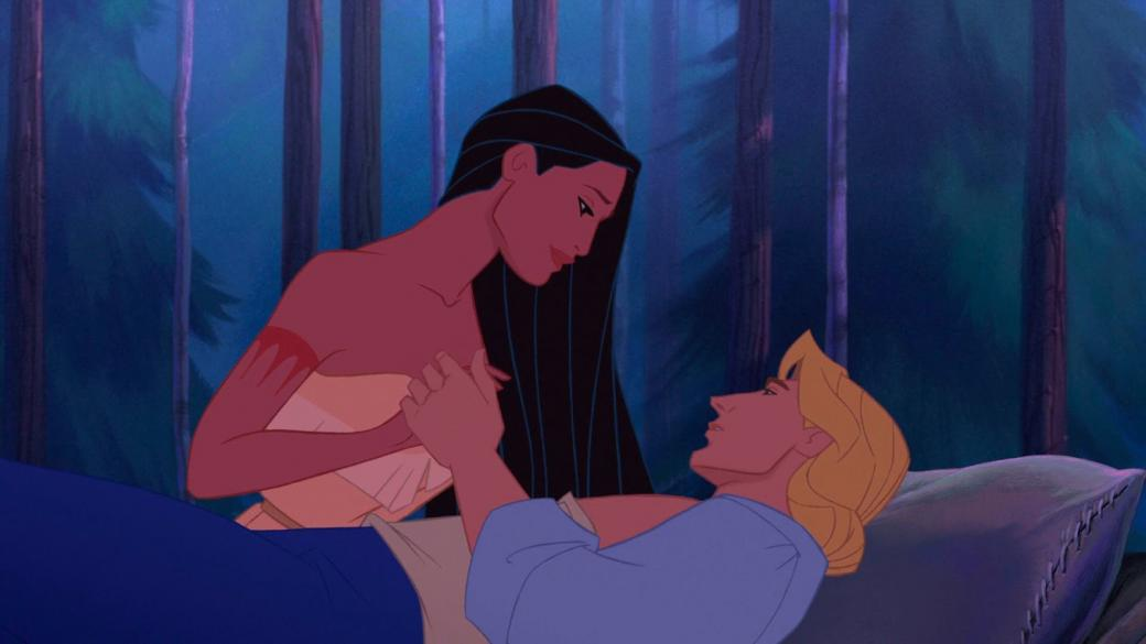pocahontas - pocahontas holding the hand of John Smith after he was wounded (9×11)