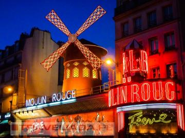 Moulin Roug. - France. Paříž Moulin Rouge.