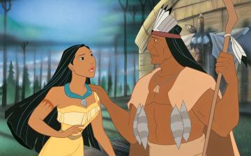 pocahontas - pocahontas together with his father powhathan
