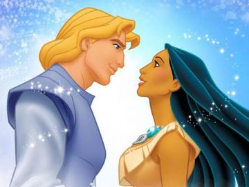 pocahontas - pocahontas and john smith who look at each other