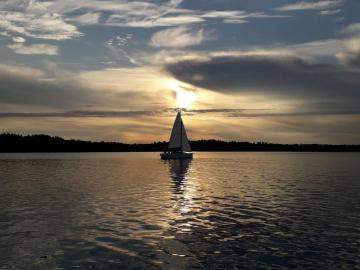 Masuria - puesta de sol - mazury, lago, vacaciones