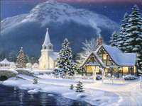 Una città in inverno.