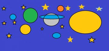 abstract cosmos - the drawing is very colorful and abstract the picture is cheerful and colorful abstract cosmos