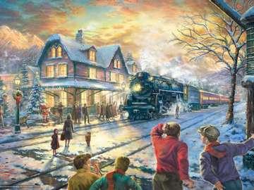 Alla stazione ferroviaria - Alla stazione dei treni ...