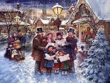 Caroling. - Carol canta a Natale.