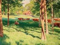 Vaches au pâturage. - Animaux. Vaches au pâturage.