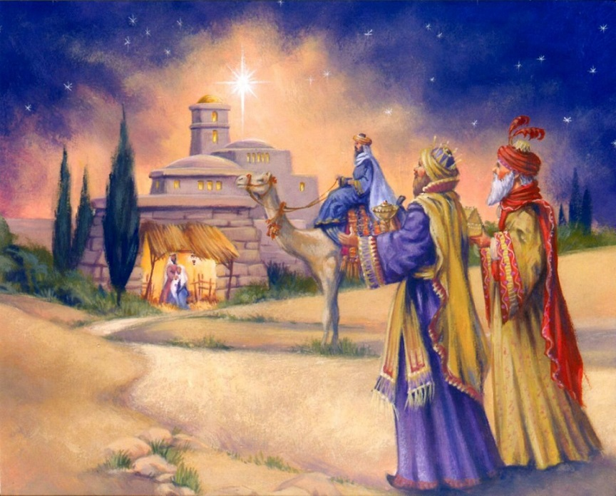 Three Kings' retinue - Christmas. Three Kings' retinue (9×9)