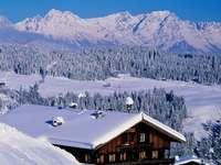 hiver en montagne - hiver en montagne, paysage
