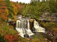 Blackwater Falls. - Waterval in Virginia in de Verenigde Staten.