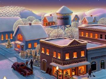 Ein festliches Bild - Weihnachten: Weihnachtsbild.