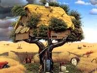 Jordbrukslandskap. - Fantasy. Jordbrukslandskap.