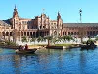 Sevillában. - Spanyol táj Sevilla.