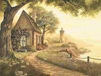 O casă lângă mare - Peisaj. O casă lângă mare.