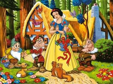 Märchenbild, Märchenrätsel - Märchenhaftes buntes Bild. Puzzle für Kinder. Wir alle lieben solche Rätsel.