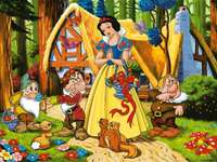 Fairytale picture, fairy-tale puzzle - Fairytale colorful picture. Puzzle for children. We all love such puzzles.