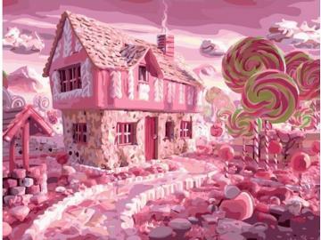 Różowe cukierki. - Jedzenie. Różowe cukierki.