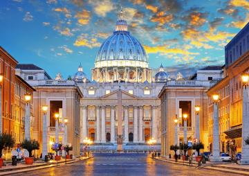 Evening in Rome - Evening in Rome, sunset