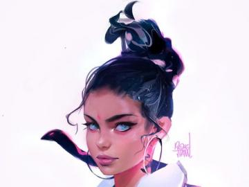 Beautiful Girl - Hermosa chica de pelo negro