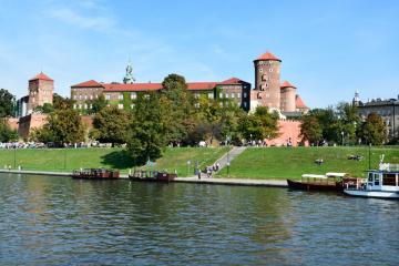 Cracow Wawel - panorama with a view of the Wawel Castle