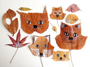 Decorazioni di volpe - Ornamenti di foglie che tutti possono fare a casa.