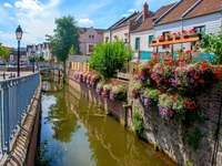 A town in Picardy. - Europe. France. Picardy.